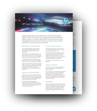 HP SureStart Gen4 Infosheet Download